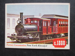 Trading Card - Chromo TOPPS RAILS & SAILS 1955 (V2105) FORNEY LOCOMOTIVE (2 Vues) NEW YORK N°47 - Motori
