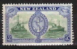 New Zealand 19486 single 5d  Stamp From The Set Issued To Celebrate Peace In Mounted Mint. - Unused Stamps