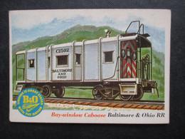 Trading Card - Chromo TOPPS RAILS & SAILS 1955 (V2105) BAY-WINDOW CABOOSE (2 Vues) BALTIMORE & OHIO RR N°48 - Motori