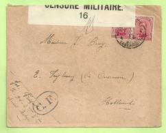 138 Brief PMB 4 -> OVERVEEN (NL.), CENSURE MILITAIRE 16 + CENSUUR C.F OVAAL !!(Folkestone)(B3166) - Belgisch Leger