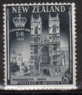 New Zealand 1953 single 8d  Stamp From The Coronation Set In Mounted Mint. - Unused Stamps