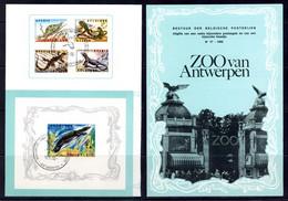BE   1344 - 1347 + BL 39   ---  Obl. 1er Jour  --  Zoo D'Anvers : Reptiles - Postdocumenten