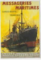 Messageries Maritimes  - Cargo-Boats Francais - Anvers - Publicité -  Artiste: Henri Rudaux - CPM - Commerce