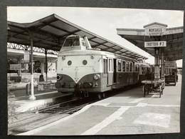 Photographie Originale De J.BAZIN : Train En Gare De MONTARGIS , Ligne ORLÉANS -  MONTARGIS - MALESHERBES En 1959 - Trains