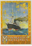 Compagnie Des Messageries Maritimes  - Cargo-Boats Francais  - Publicité  - CPM - Commerce