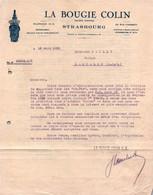 "Lettre Commerciale - STRASBOURG - La Bougie ""COLIN"" ... - 1931 - Cars"