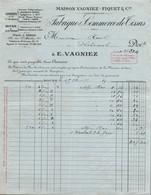 Facture - ROUEN / AMIENS - Fabrique De Tissus … Ets VAGNIEZ-FIQUET Cie - 1931 - Textilos & Vestidos