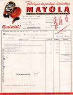 Facture - ROSPORDEN - Produits D'entretien Cirage MAYOLA Ets V.DONVAL- Lot De 2 Docs - Perfumería & Droguería