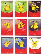 Pochettes Emballages Pokémon 25 Ans (Jeux Imprimés à L'intérieur) -  Faciale Pikachu - Vides & Sans Suppléments (x9) - Pokemon