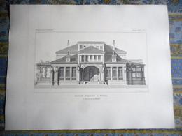 LOT DE 2 GRAVURE 1893 MAISON ROMAINE A EPINAL   MONITEUR DES ARCHITECTES J BOUSSARD ARCHITECTE - Estampas & Grabados