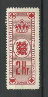 DENMARK Danmark Tax For Playing Cards Revenue Steuermarke Für Spielkarten * - Steuermarken