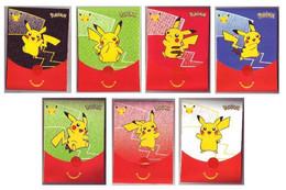 Pochettes Emballages Pokémon 25 Ans (Jeux Imprimés à L'intérieur) -  Faciale Pikachu - Vides & Sans Suppléments (x7) - Pokemon