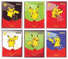 Pochettes Emballages Pokémon 25 Ans (Jeux Imprimés à L'intérieur) -  Faciale Pikachu - Vides & Sans Suppléments (x6) - Pokemon
