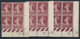 EC-361: FRANCE: Lot Avec Coins Datés N°139 18/10/24** (léger Pli)-12/1/25* (*infime)-16/7/25** - ....-1929