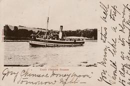 1904 Tim's Card Truro Pleasure Steamer New Resolute Truro Squared Circle Cancel - Piroscafi