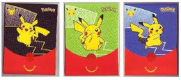 Pochettes Emballages Pokémon 25 Ans (Jeux Imprimés à L'intérieur) -  Faciale Pikachu - Vides & Sans Suppléments (x3) - Pokemon