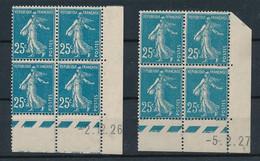 EC-363: FRANCE: Lot Avec Coins Datés N°140**(2) - ....-1929