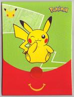 Pochette Emballage Pokémon 25 Ans (Jeu Imprimé à L'intérieur) -  Faciale Pikachu (Verte) - Vide & Sans Suppléments - Pokemon