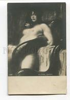 3026809 Nude WITCH & Big SNAKE. Sign STUCK. Vintage - Vertellingen, Fabels & Legenden