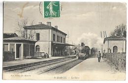 SAINT MARCEL - La Gare - TRAIN - Non Classificati