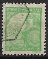 Macau Macao – 1934 Padrões 3 Patacas - Used Stamps