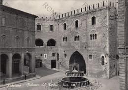 CARTOLINA  FABRIANO,ANCONA,MARCHE,PALAZZO DEL PODESTA ( Sec.XII ),STORIA,CULTURA,RELIGIONE,MEMORIA,VIAGGIATA 1958 - Ancona