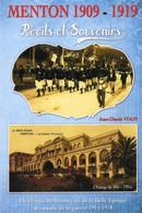 CPM - E - ALPES MARITIMES - MENTON - PUB LIVRE DE JEAN CLAUDE VOLPI - MENTON 1909 - 1919 RECITS ET SOUVENIRS - Menton