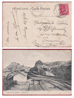 British India Inde Khandala Railway Reversing Stations 1908 Train A Vapeur Steam Locomotive Sea Post Bombay Eden Fort - 1902-11  Edward VII