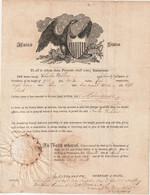 RARE : U.S.A. Passport 1815  Passeport  - Reisepaß - Historical Documents