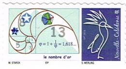 Nouvelle Caledonie Timbre Personnalise Prive Stark Timbramoi Mathematique Nombre Or Nautile Cagou Neuf UNC RRR - Neufs