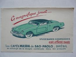 VIEUX PAPIERS - BUVARD : CAFES MASDA De SAO-PAOLO - STUDEBAKER - Automotive