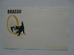 VIEUX PAPIERS - BUVARD : BRASSO - CHAT - Animals