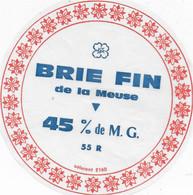 ETIQUETTE DE FROMAGE    DE LA VALLEE DE LA DIVE LEZAY DEUX SEVRESNEUVE BRIE FIN DE LA MEUSE BLENOD LES TOUL - Cheese