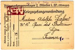 48573 - P.G. Au Camp De MÜNSTER - Guerra De 1914-18