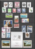 1992 Denmark. Full Years. MNH ** - Volledig Jaar