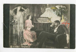 3055595 Lady Playing On PIANO & GHOST By DICKSEE Old - Andere Illustrators