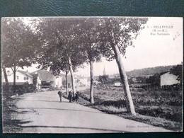 54 ,belleville ,la Rue Nationale En 1928 - Otros Municipios
