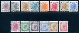 Mi. 105-118 C (K 13:13 1/2) Falz - Unused Stamps