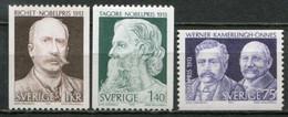 Schweden Sweden Sverige Mi# 833-5 Postfrisch/MNH - Nobel Prize Winners 1913 - Nuovi