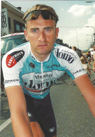 CYCLISTE FRANCK VANDENBROUCKE EQUIPE DOMO FARM FRITES 2002 TBE - Cycling