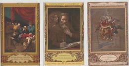REMBRANDT , POUSSIN  &  MICHEL  ANGE  3  C PA  PUB  CHOCOLATRIE   D' AIGUEBELLE  ( 21 / 6 / 283  ) - Paintings