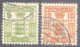 DENMARK   SCOTT NO L4-5   USED   YEAR  1934 - Steuermarken