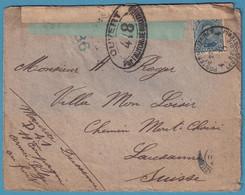Env Du Front  Affr N°141 PMB 4 /1917 + Double Censure  Pour La Suisse - Belgisch Leger