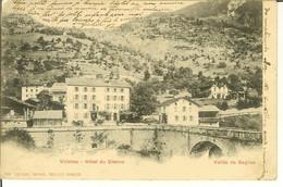 """CP De VILLETTES """" Hôtel Du Gistroz Vallée De Bagnes """" Cachets Konstanz Geprüft Censure LE CHÂBLE Prisonniers De Guerre - VS Valais"""