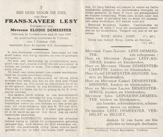 Lichtervelde, Torhout, Frans Lesy, Demeester, Billiet, Verhelst, - Devotion Images