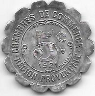Alais  Marseille GAP 5 Centimes  1921   Alu 124 - Monetari / Di Necessità