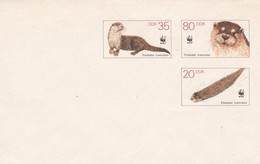 [C0013.2] DDR 1987. Entero Postal Sobre - WWF (M) - Umschläge - Ungebraucht