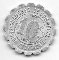 *alais  Marseille GAP 10 Centimes  1921   Alu 125 - Monetari / Di Necessità