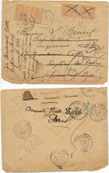 JOLI VOYAGELOT ENV 1901 CAHORS LE 14 PARIS LE 15 ENGHIEN LE 16 CAHORS LE 21 ENGHIEN LE 26 CAHORS LE 29 PARIS A ETUDIER - 1877-1920: Semi Modern Period
