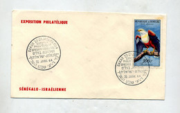 Lettre Cachet Dakar Expo Senegal Israel Sur Aigle - Senegal (1960-...)